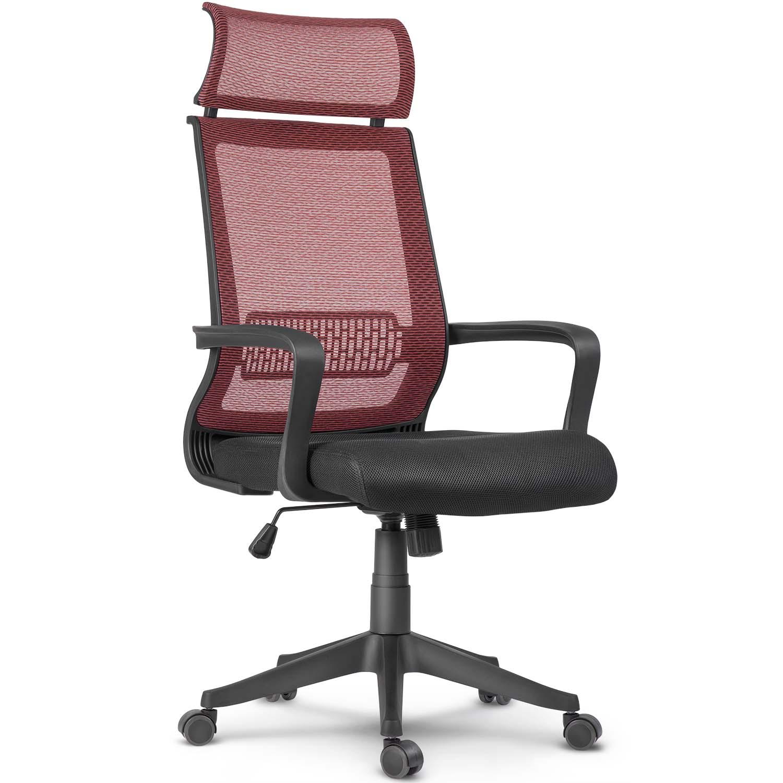 Fotel biurowy krzesło obrotowe mikrosiatka Nosberg mechanizm TILT