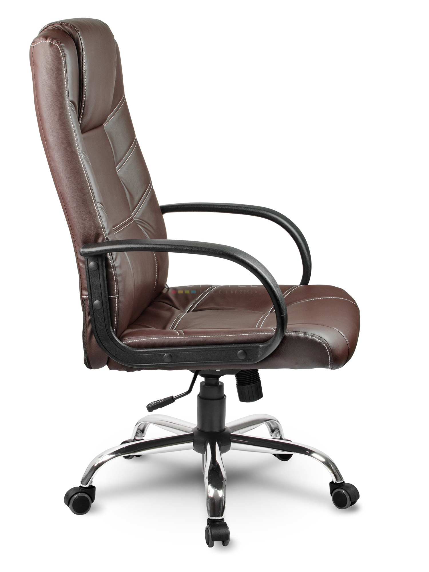 Modish Fotel biurowy skórzany Sofotel EG-221 brązowy WF21