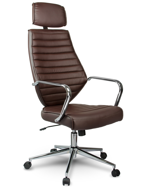 Modish Fotel biurowy skórzany Sofotel EG-225 brązowy GK35